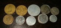 10 darab szocialisa blokk román cseh kelet német fémpénz érme aprópénz lot 1 forintról KIÁRUSÍTÁS
