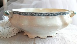 Antik angol fajansz leveses tál