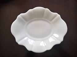 Régi Cseh fehér vastag porcelán kis tál