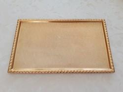 Retro alumínium tálca aranyszínű