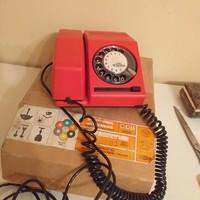 Régi tárcsás telefon eredeti dobozában sosem volt használva