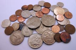 Brit Nemzetközösség váltópénz pénz érme pénzérme kupac