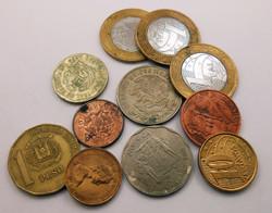 Latin-Amerika váltópénz pénz érme pénzérme kupac