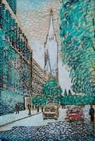 B. Hajdú László (1926-1998): Városkép, 1980 - festmény keretezve
