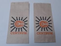 Retro Centrum Áruház reklám csomagolás papírzacskó 2 db