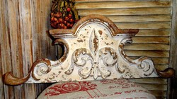 ÚJ! Shabby Chic Antique liliomos bútordísz/fali dekoráció 61x23cm