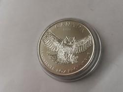 2015 Kanada bagoly ezüst érme 31,1 gramm 0,999 Ritkább