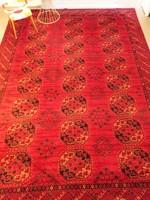 Bokhara mintás, kézi csomózású gyapjú perzsaszőnyeg, 287x400 cm