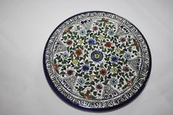 Izraelben vásárolt gyönyörű, kézzel festett kerámia dísz falra akasztható
