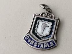 """Ezüst """"Dunstable"""" Angol település cimere, jelképe. Sterling silver 925"""