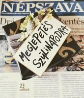 2002 április 19  /  NÉPSZAVA  /  19. SZÜLETÉSNAPRA! Ssz.:  13555