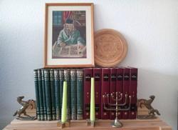 Judaika Gobelin Rabbis kép + Dávid csillagos fali tányér