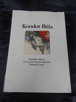 Kondor Béla: Tizenhét rézkarc c. gyűjteménye. Színes és fekete-fehér rézkarcok gyűjteménye. Ritka