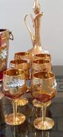 Muranoi boros készlet
