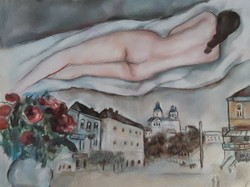 Marc Chagall pasztell tanulmány