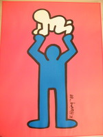 "Keith Haring offset litográfia ""Men and radiant baby"" 60x80 cm"