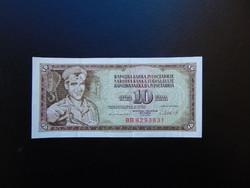 10 dinár 1981 Jugoszlávia Szép ropogós bankjegy  01