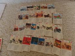 27 db retró motoros kártya