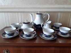 Zsolnay Pompadour  mintás kávéskészlet 6 személyes