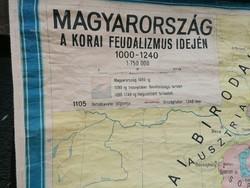 Térkép korai feudalizmus Magyarország 170x110cm
