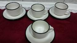 Kőporcelán ritka szép törtfehér teás csészék