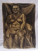 Zsigovics Iván Női akt grafika