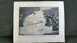 Max Schenke (1891-1969) Die Tanziert 1916 Very Early engraving !