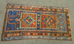 0H937 Antik különleges kézi szőnyeg 128 x 204 cm