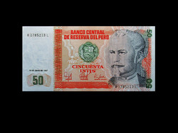 UNC - 50 INTIS - PERUBÓL - 1987 !!!