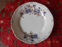 Zsolnay Búzavirág mintás lapos tányér