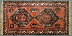 0H942 Antik kaukázusi szőnyeg 108 x 194 cm