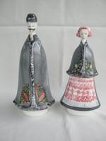 Aquincumi porcelán ritka festésű népviseletes pár