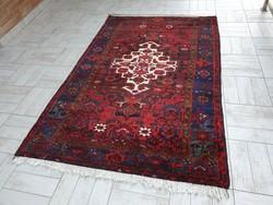 Fél antik Hamadan 142x225 kézi gyapjú perzsa szőnyeg 36P_34