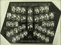 0L909 Régi SZEGEDI VEDRES tablókép 1954-58