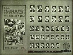 0L908 Régi SZEGEDI VEDRES tablókép 1952-56