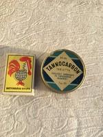 Tannocarbon tabletta, Egyesült Gyógyszer - Budapest fémdoboz doboz pléh
