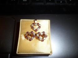 14K arany szett / rubin,topáz