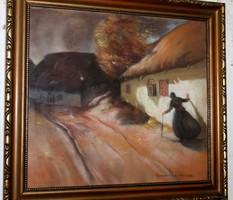 Antik szignált festmény 147