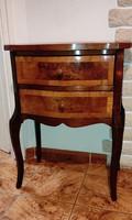 Smizett ,komód 2 fiókos neobarokk kis bútor dekoratív mutatós,tv asztal, posztamensnek,Elegàns bútor