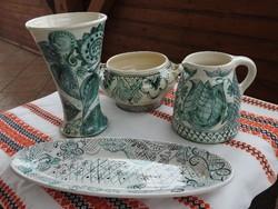 Nürnbergi jelzett porcelán / kerámia kézimunka műtárgy
