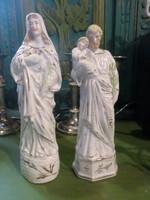 2 db porcelán szent , kb 17 cm-esek , szép sérülésmentes állapotúak .