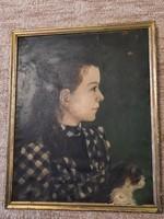 Antik Francia festmény 1891-ből