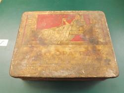 Háború előtti egyiptomi cleopatra szivarka fém doboz - magyar gyártású