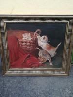 Heyer Artúr olaj vászon festmény