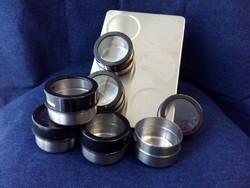 6 darabos mágneses érmetartó alkalmatosság tároláshoz és tisztításhoz fekete (id43633)