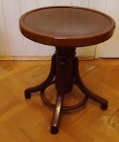 Thonet, bútor dekoratív mutatós darab,vilàgos zongora szék,àllitható magasságú, felújított darab