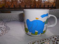 Alföldi porcelán elefántos  bögre