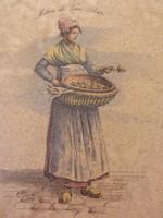 Francia fajansz csempekép