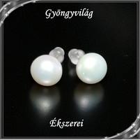 Fülbevalók: igazgyöngy , 925-ös sterling ezüst SFE-IGY02-8