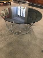 Ellipszis retro króm dohányzó asztal  B095